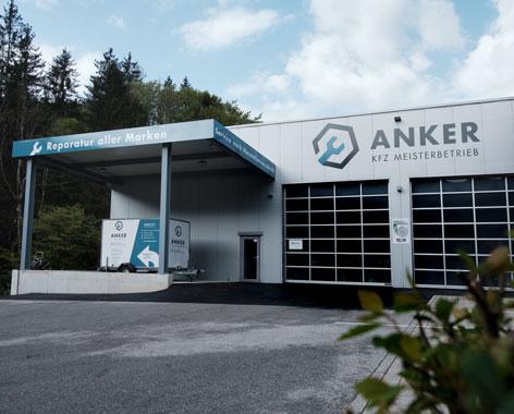 Außenansicht der Werkstatt von ANKER KFZ MEISTERBETRIEB